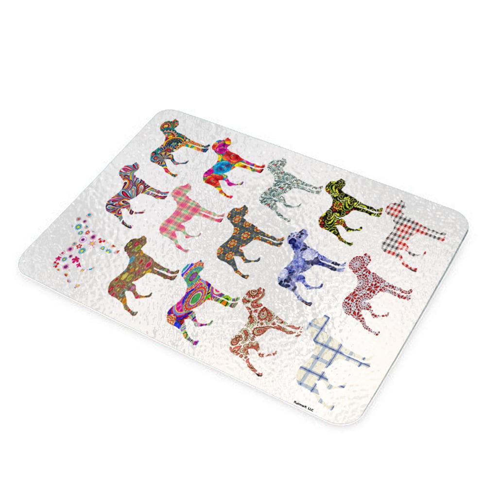 KuzmarK Glass Cutting Board - Great Dane Dog