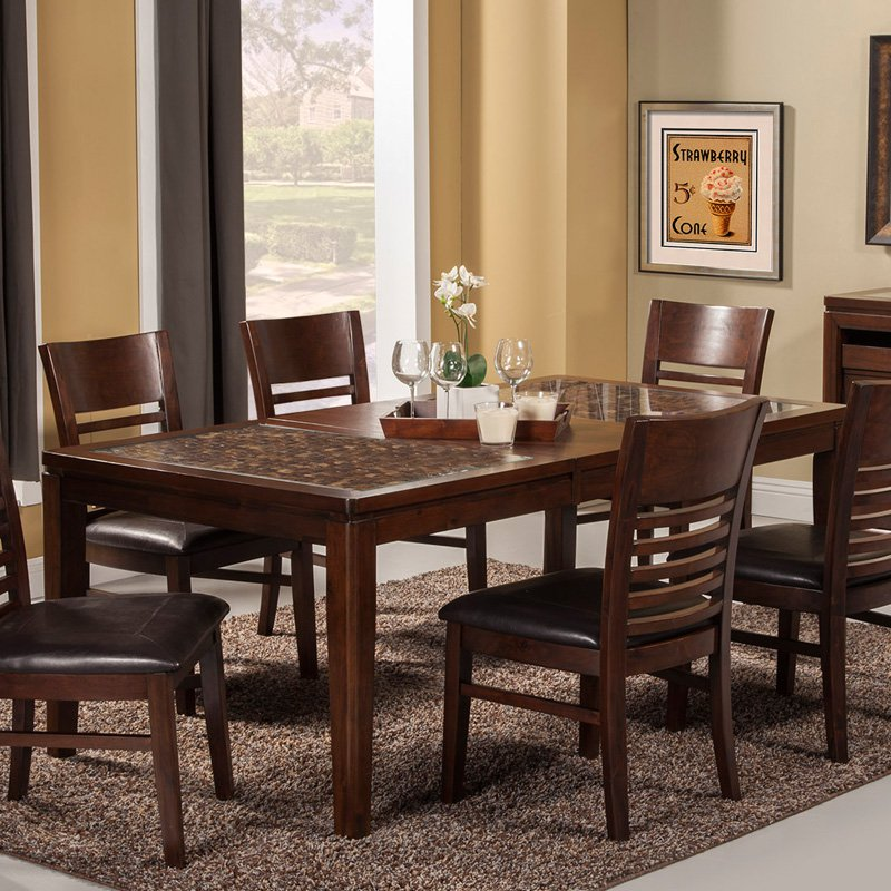Alpine Furniture Granada Dining Table with Butterfly Leaf