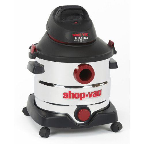 Shop-Vac Stainless Steel Series 8 Gallon 5.5 Peak HP Wet / Dry Vacuum