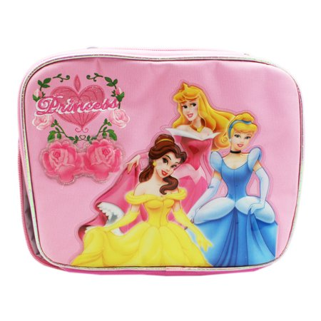 Disney Princess Belle, Aurora and Cinderella Floral Pink Lunch Bag