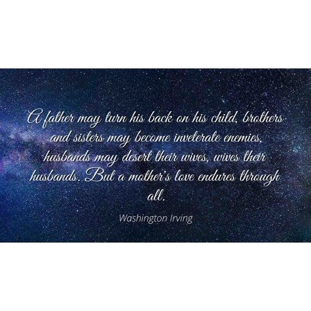 Washington Irving Famous Quotes Laminated Poster Print 24x20 A
