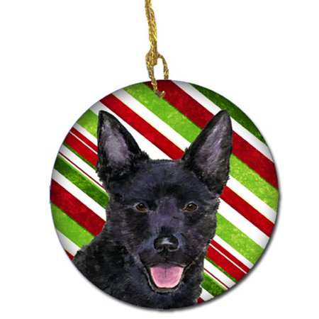 Australian Kelpie Candy Cane Holiday Christmas Ceramic Ornament - image 1 of 1