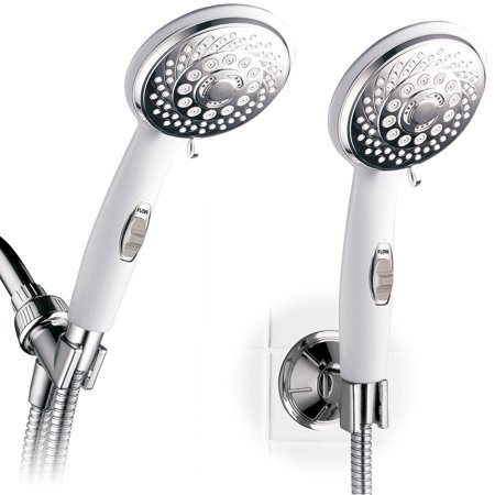 PowerSpa 6-Setting Convenience/Mobility Hand Shower Package, 2-Tone