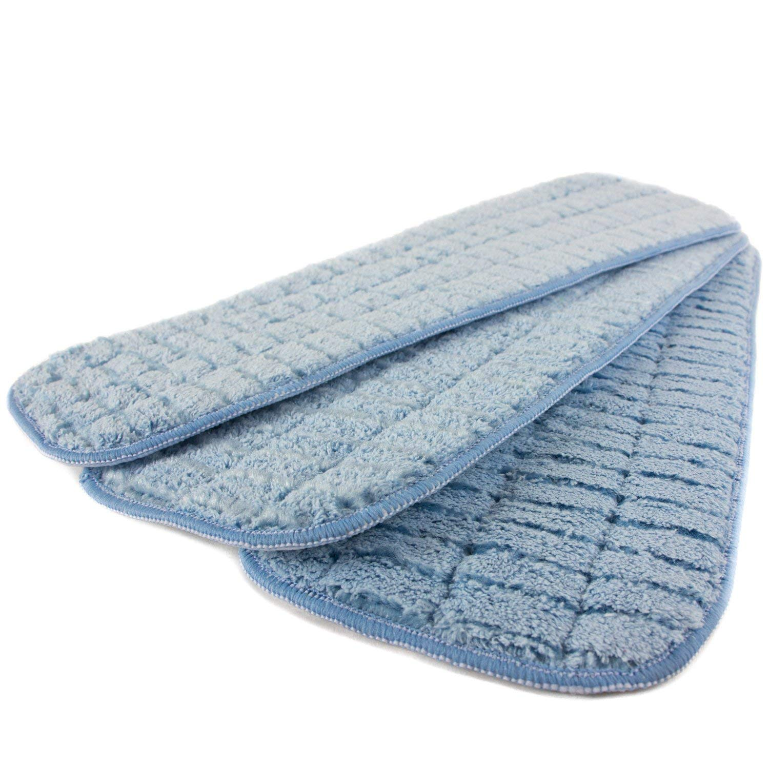 "Zwipes Commercial 18"" Microfiber Wet Mop Scrubbing Pad Blue - 3 CT3.0 CT"