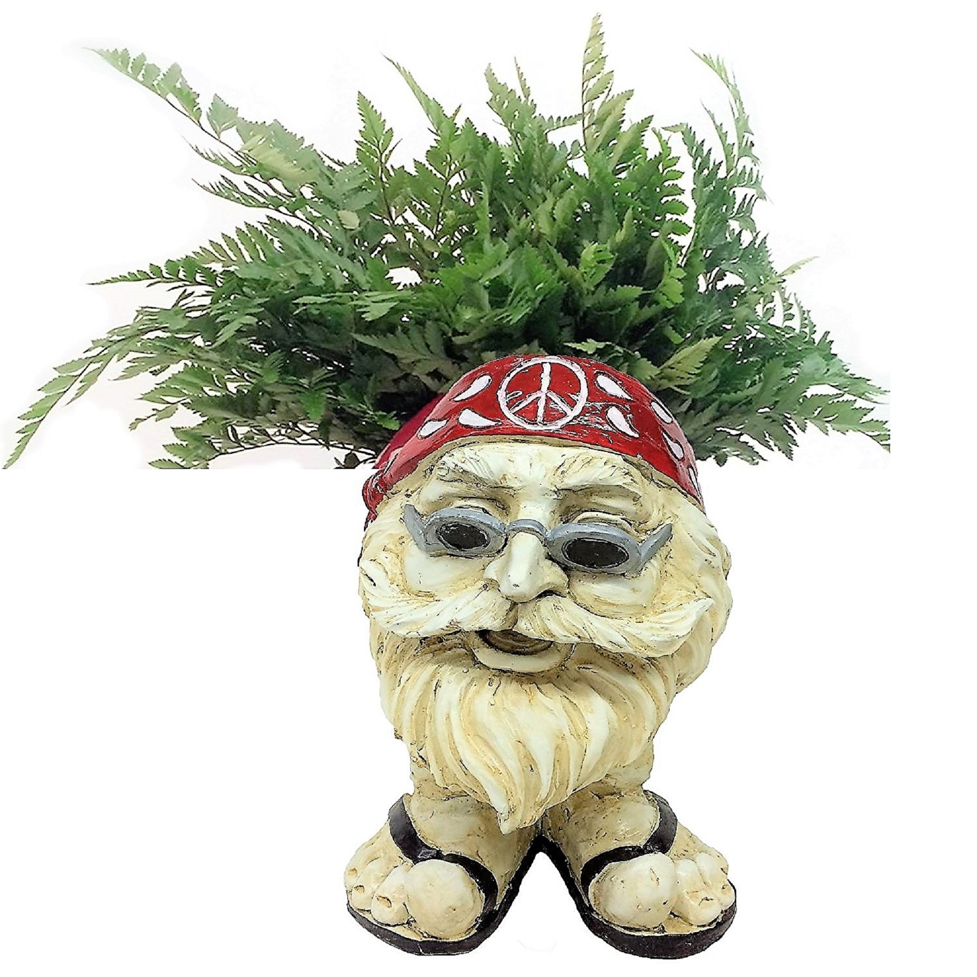 """Homestyles Muggly Hippie """"Jerry"""" Antique White Accent 12"""" Face Planter... by GSI Homestyles"""
