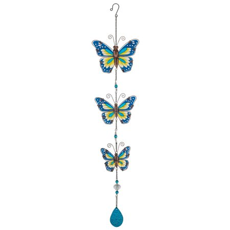 Regal Butterfly Hanging Decor - Blue