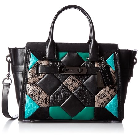 COACH Swagger 27 with Quilting Carryall Satchel in Exotic Embossed