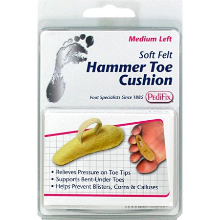 Pedifix Soft Felt Hammer Toe Cushion - Beige, Large Right - Hammer Toe Pads