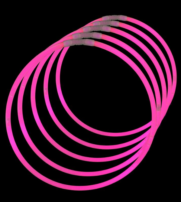 "Lumistick 22"" Glow Stick Necklaces, Pink, 50 ct"