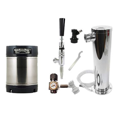1. 75 Gallon Ball Lock Mini Cider and Wine Keg System w/Single Tower, New AIH