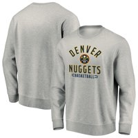 Denver Nuggets Fanatics Branded Iconic Team Arc Stack Fleece Sweatshirt - Heathered Gray