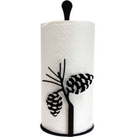 Village Wrought Iron PT-C-89 Paper Towel Stand - Pinecone