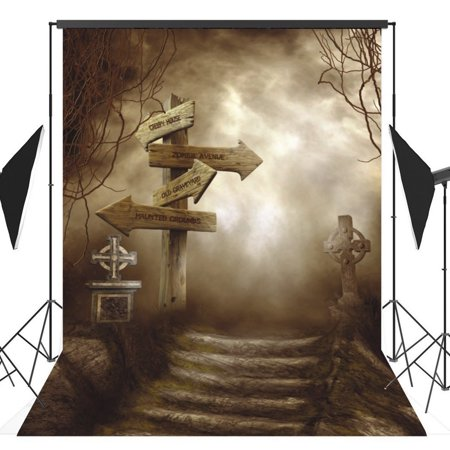 GreenDecor Polyster 5x7ft Halloween Horror Nights Costume Party Masquerade Series Photo Backdrops Studio Background Studio Props (Masquerade Ball Backdrops)