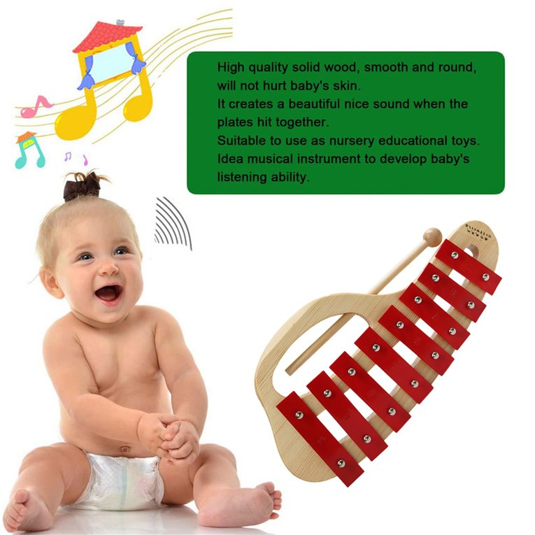 2017 Hot Sale Kids Metal Xylophone Percussion Musical Instrument 8 Notes Musical Teaching... by