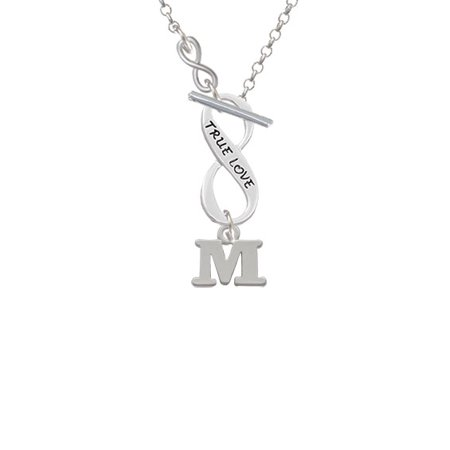 Small Greek Letter Mu To Infinity True Love Toggle Necklace