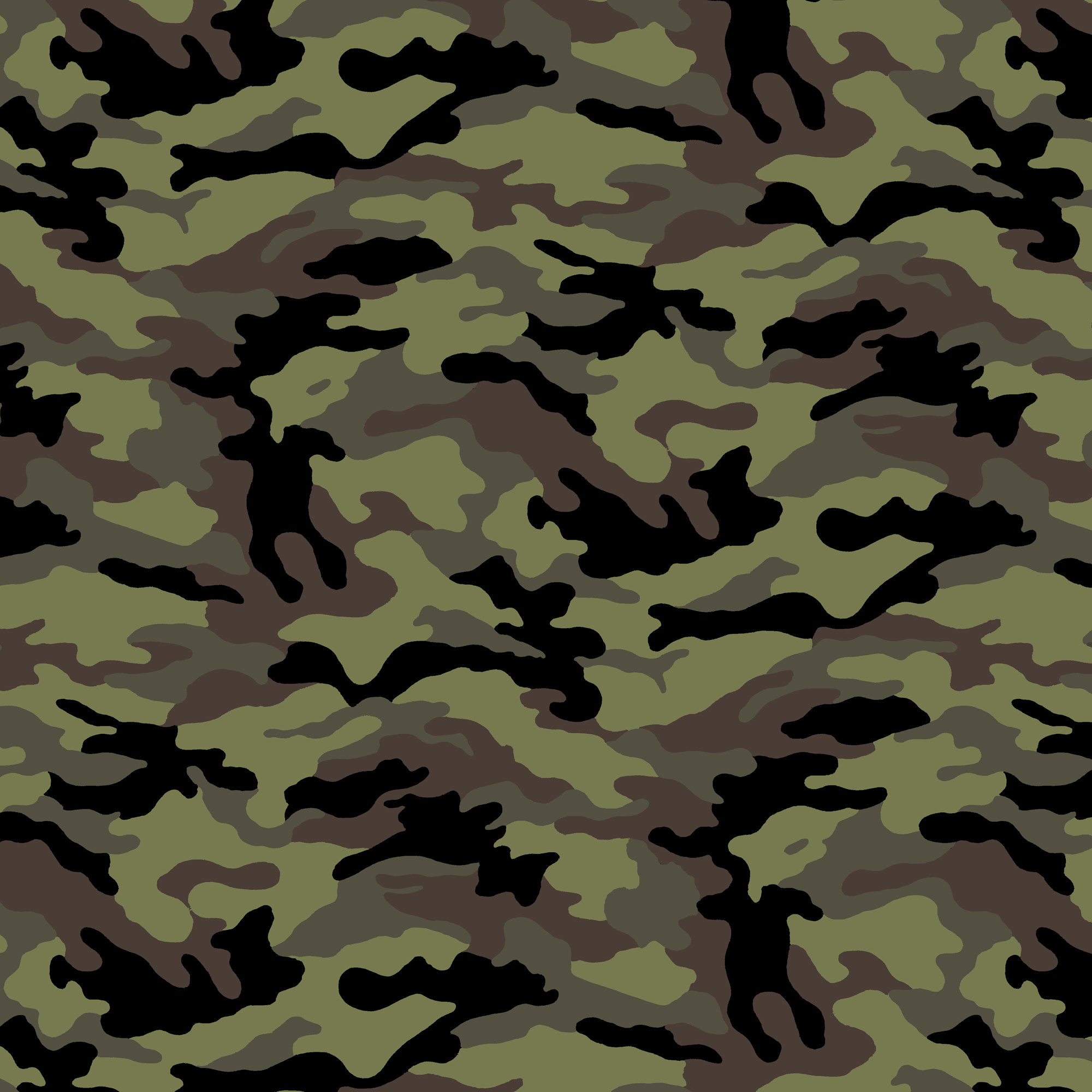 David Textiles Cotton Precut Fabric Camo 1 Yd X 44 Inches