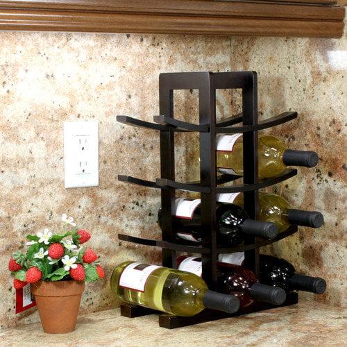 Oceanstar 12 Bottle Dark Espresso Bamboo Wine Rack Wr1132
