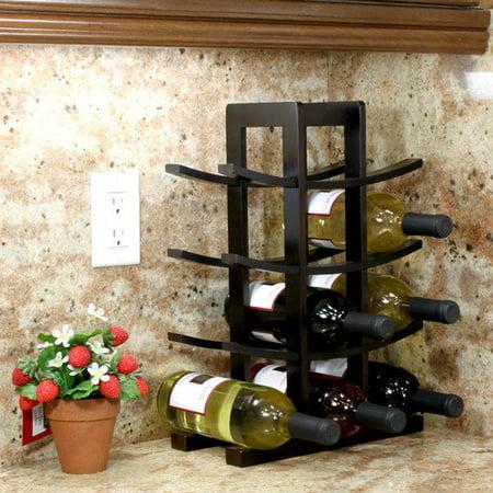 Oceanstar 12-Bottle Dark Espresso Bamboo Wine Rack WR1132