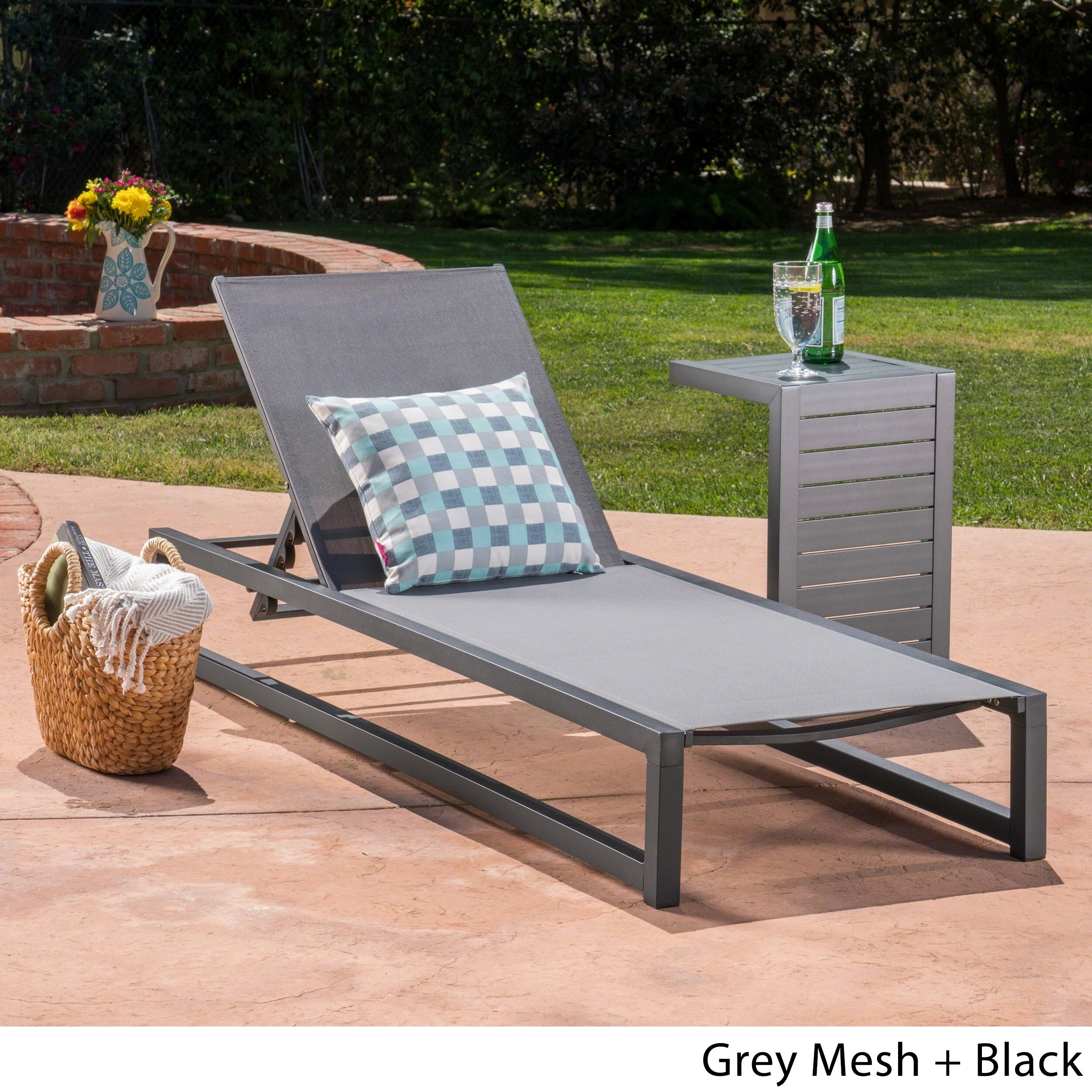 Christopher Knight Home Modesta Outdoor 2-piece Armless Aluminum Chaise Lounge Set by