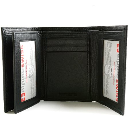 alpine swiss mens trifold wallet extra capacity multiple card