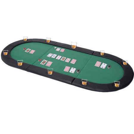 Tropitone Aluminum Oval Table - Costway 79''x36'' Portable Tri-Fold Oval Padded Poker Table Top Folding With Carrying Case