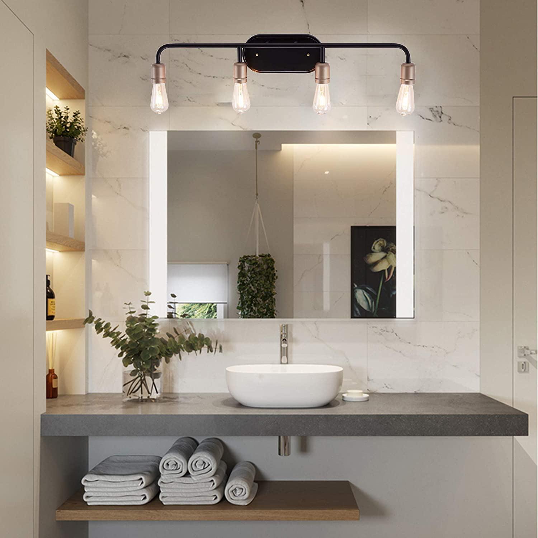 Vanity Art Vintage Bathroom Vanity Light 4 Lights Wall Light Fixtures Indoor Wall Mount Lamp Shade For Bathroom Vanity Mirror Walmart Com Walmart Com