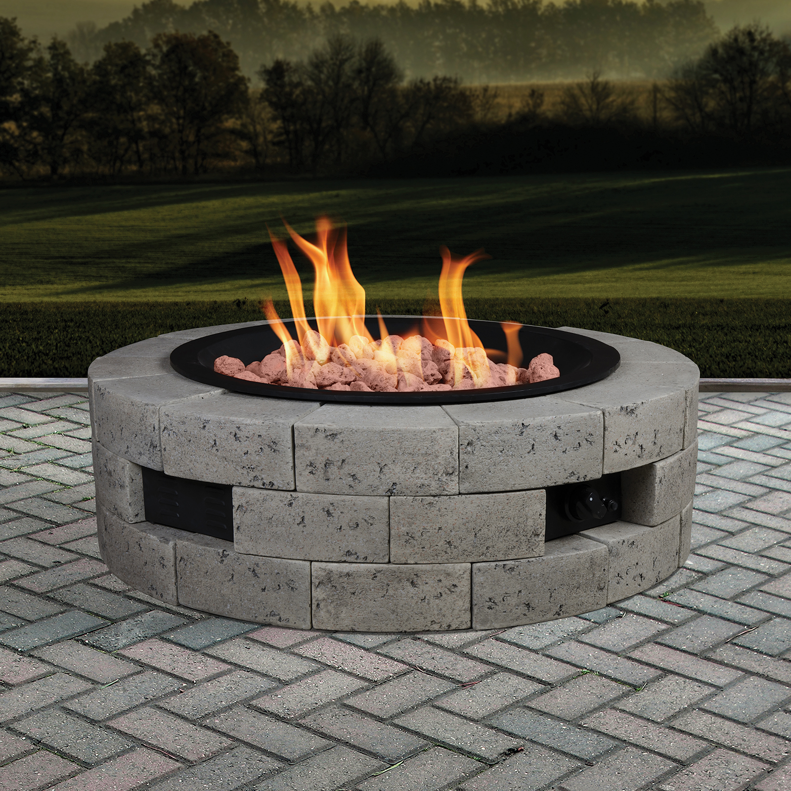 "35"" Round Gas Fire Table"
