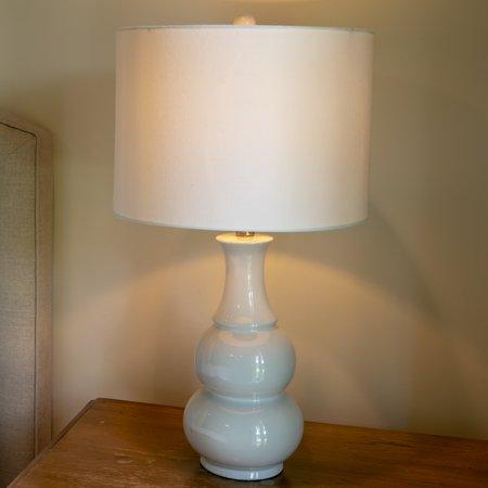Harper Ceramic Table Lamp Purple (Includes Energy Efficient Light Bulb) - Decor Therapy