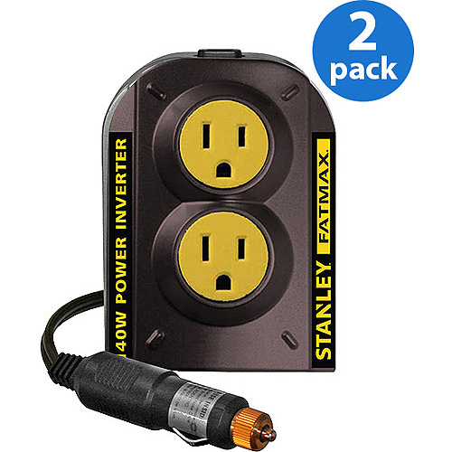 Stanley FatMax 140W Power Inverter, 2 Pack Bundle