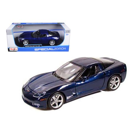 2005 Chevrolet Corvette C6 Coupe Blue 1/18 Diecast Model Car by - 1973 Corvette Coupe