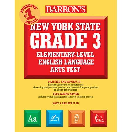 English 3 Tests - Barron's New York State Grade 3 Elementary-Level English Language Arts Test