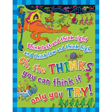 Dr. Seuss(TM) Think Left Think Right Poster](Dr Seuss Poster)