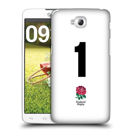 OFFICIAL ENGLAND RUGBY UNION 2016/17 HOME KIT HARD BACK CASE FOR LG PHONES 3