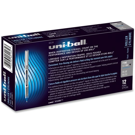 Uni-Ball, SAN60126DZ, Vision Fine Rollerball Pens, 1 Dozen