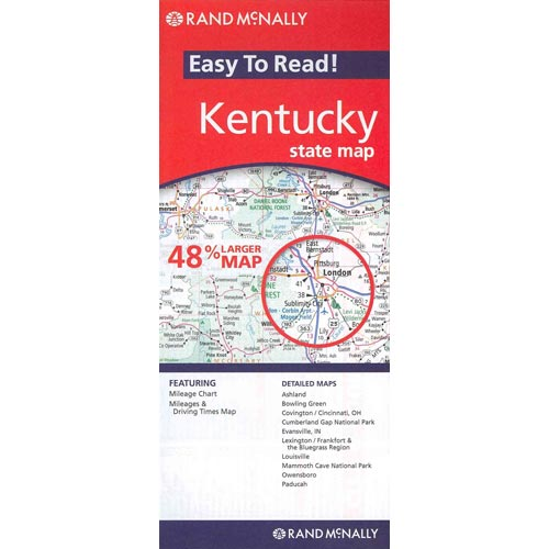 Rand McNally Easy to Read! Kentucky State Map