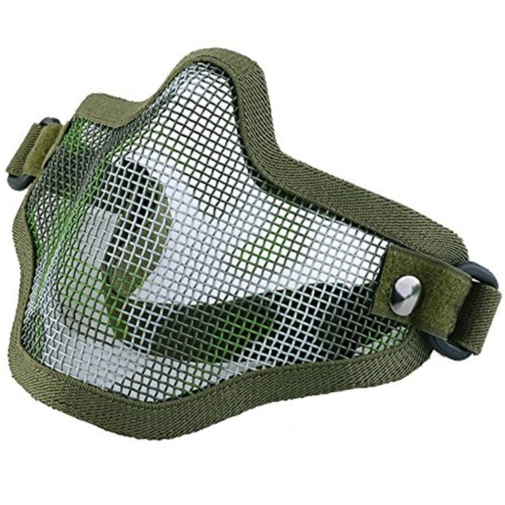 IMage Half Face Mask Tactical Strike Metal Mesh Protective Lower Mask Green by