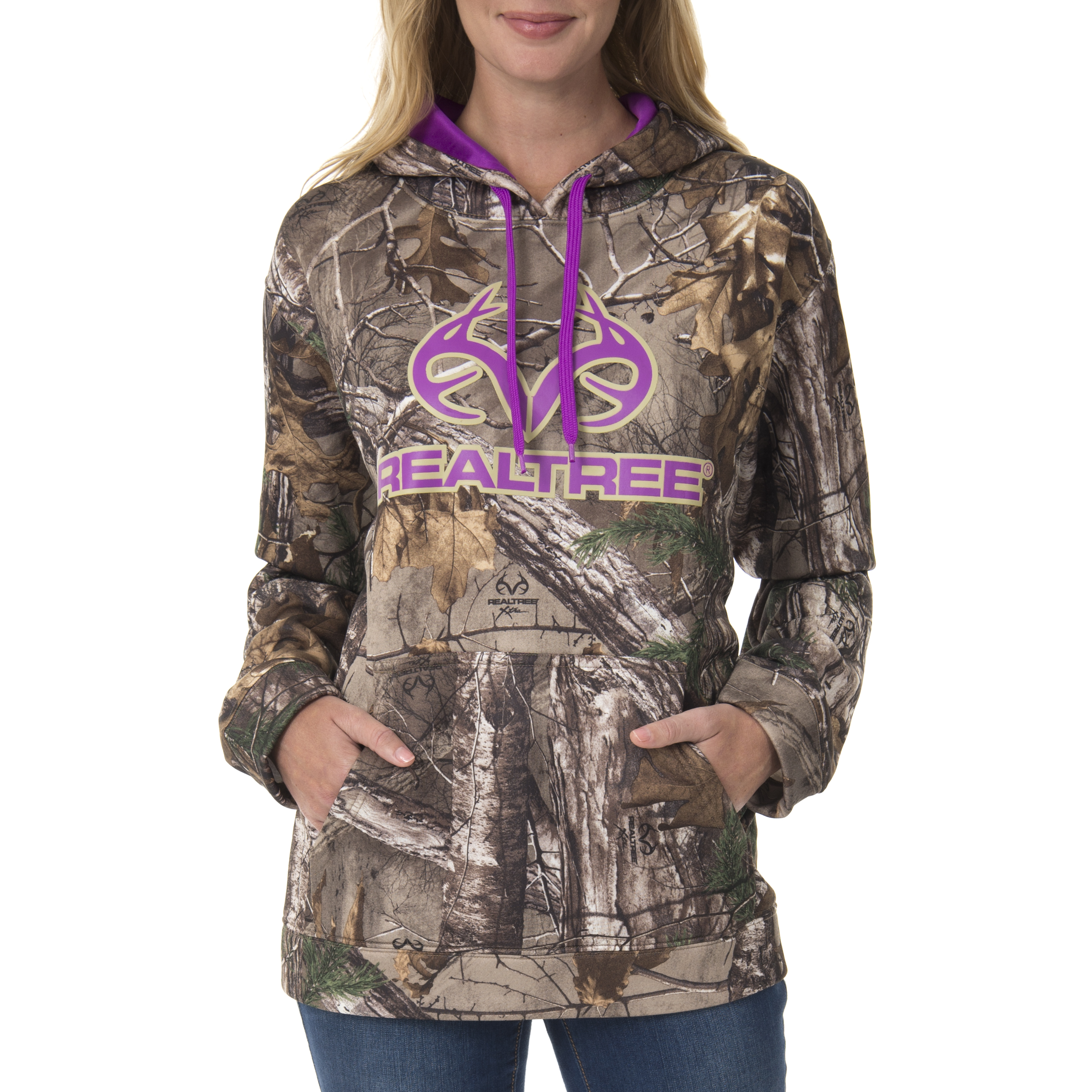 Realtree Women's Camo Performance Fleece Hoodie