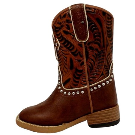 c01eb6f49b0 Blazin Roxx Western Boots Girls Cross Kids Studs Infant Brown 4418402