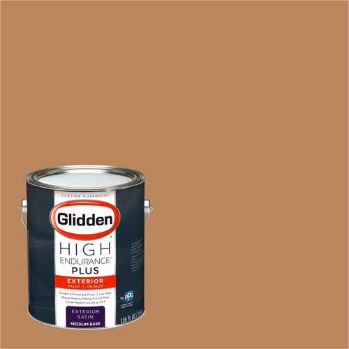 Glidden High Endurance Plus Exterior Paint and Primer, Saddle Tan, #80YR 32/339