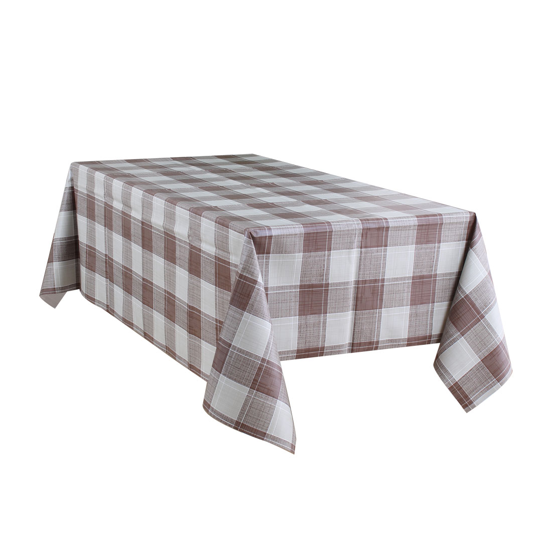 """Tablecloth PVC Rectangle Table Cloth Water Resistant Plaid Pattern 39""""x63"""",#3 - image 7 of 7"""