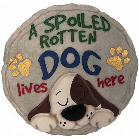 Spoontiques 13243 9 in. Stepping Stone - Spoiled Dog ()