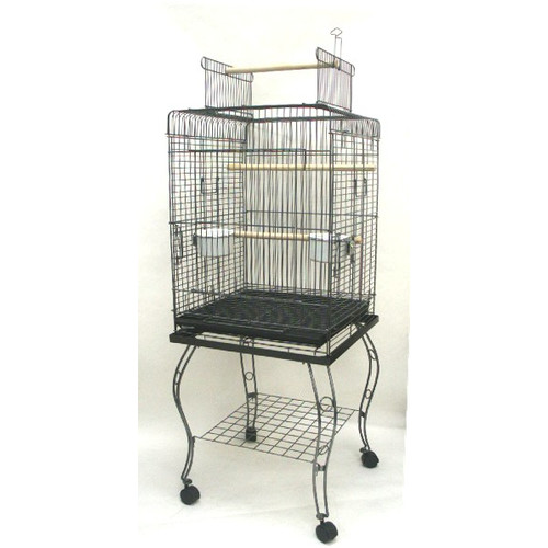YML Open Top Parrot Bird Cage with Stand