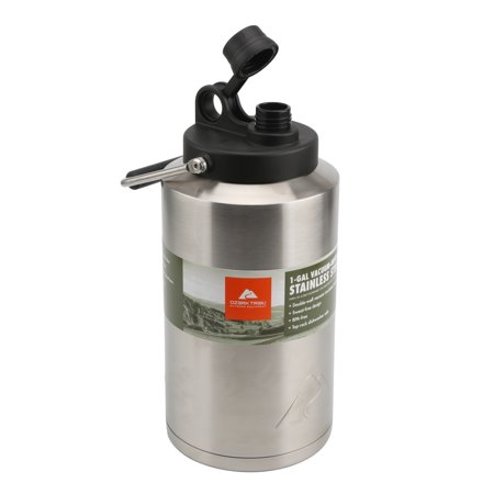 Ozark Trail 1 Gallon Double-wall Vacuum-sealed Stainless Steel Water Jug