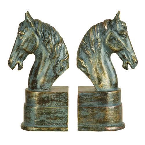 Woodland Imports Horse Book End (Set of 2)