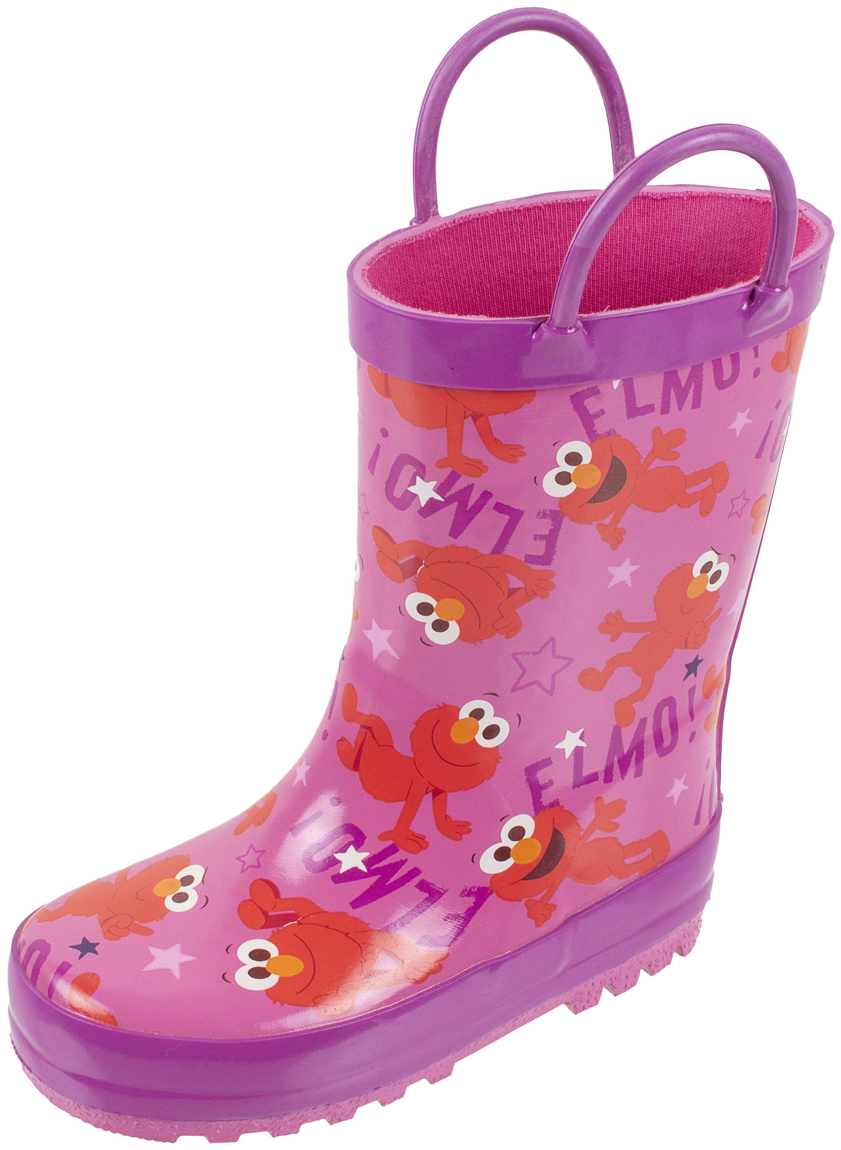 Sesame Street Elmo Boys Girls Rain Boots Toddler//Little Kid