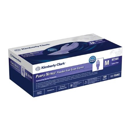 Exam Glove Purple Nitrile NonSterile Purple Powder Free Nitrile Ambidextrous Textured Fingertips Chemo Tested - X-Large - 90 Each / Box - 55841300