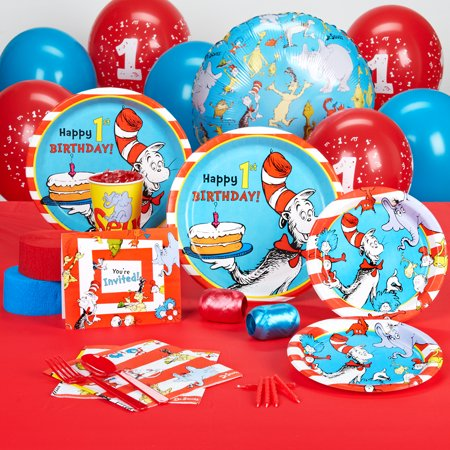 Dr Seuss 1st Birthday Standard Party Pack for 16 for $<!---->