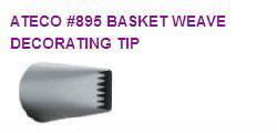 Basketweave Icing Cake / CupCake / Cupcake Decorating Tip #895