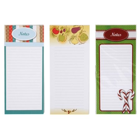 Magnetic Memo Note Pads, 80 Sheets Per Pad, 8 inch x 3.5 Inch, Total of 3 Pads (240 Sheets!), BETTER CRAFTS pack of 3 nice quality magnetic.., By Better crafts
