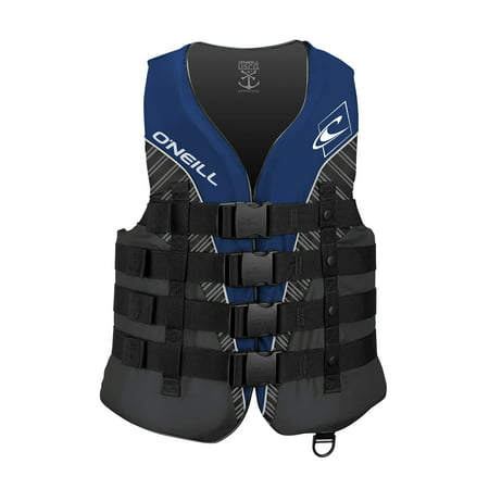O'NEILL MEN'S SUPERLITE USCG LIFE VEST, Pacific/Smoke/Black:White, Size Large